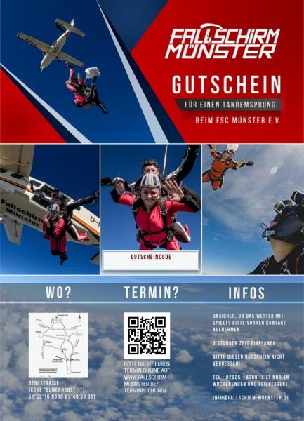 Tandemsprung-Gutschein